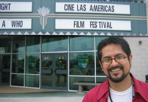 Jonathan at Cine Las Americas with Back Issues